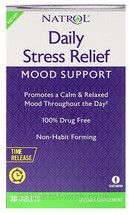 Natrol Daily Stress Relief, Mood Support ,30 Mg Tablets , 100% Drug Free - $17.60