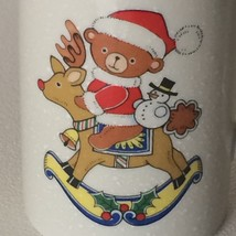 Mikasa Teddy's Rocker Coffee Tea Mug Cup HP144 Wreath Reindeer Rocking Chair - $17.75