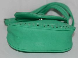 Non Branded Womens Parakeet Green Saddle Bag Purse With Shoulder Strap image 5