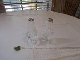"""Waterford Crystal Salt & Pepper Shakers Lismore **Missing tops** 5 3/4"""" ... - $89.09"""