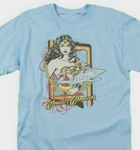 Wonder Woman T-shirt Invisible Jet DC comic book Batman superhero tee DCO234 image 1