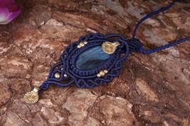 Labradorite Necklace Boho Jewelry Micro Macrame Bohemian Necklace Healin... - $18.00