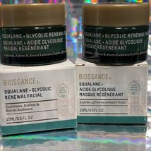 NEW IN BOX 2x Biossance Glycolic Renewal Facial 15mL image 1