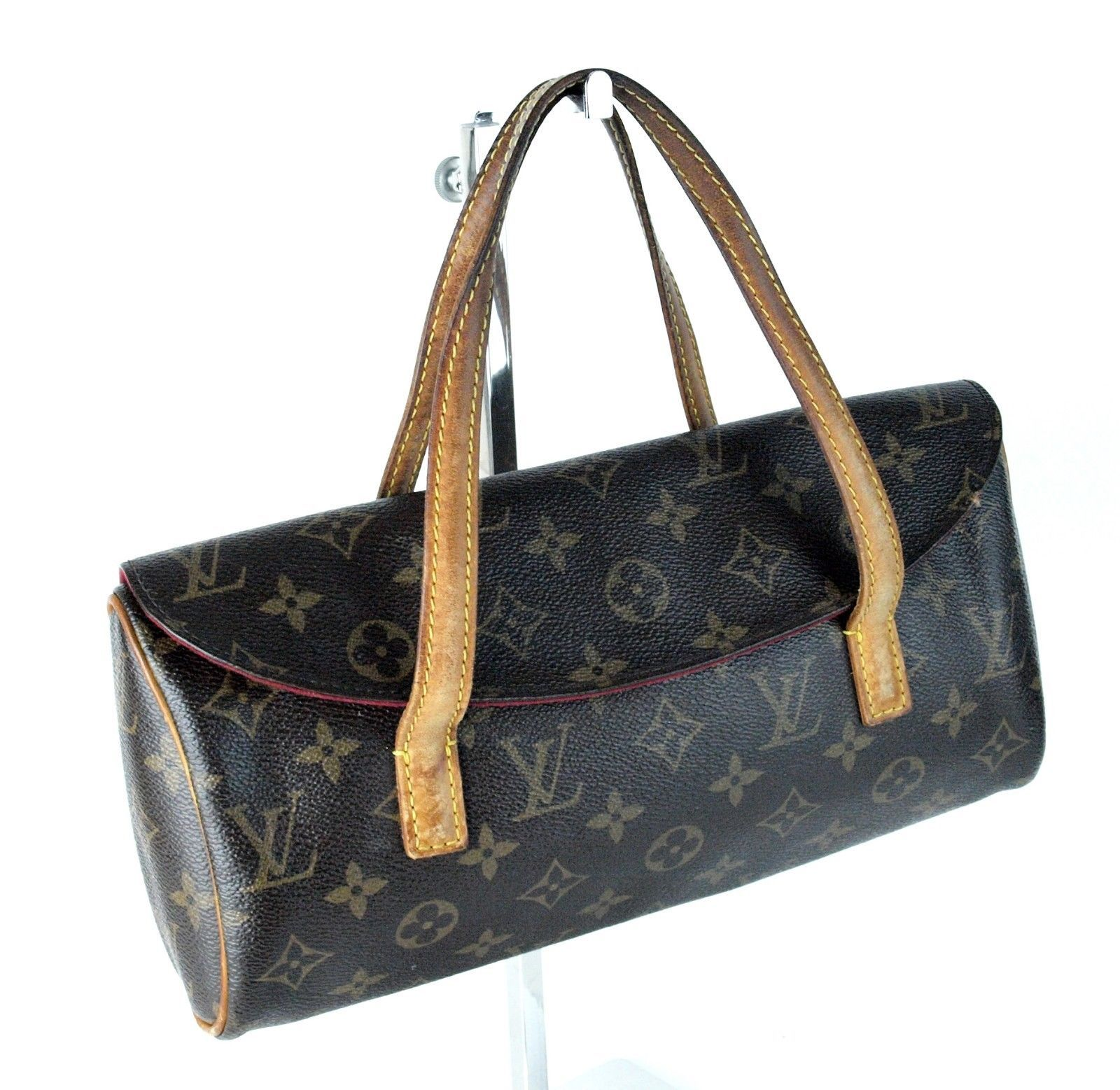 77595013b98c S l1600. S l1600. Previous. 100% Authentic LOUIS VUITTON Brown Monogram  Canvas Sonatine Bag France DU0023