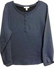 Vintage America Women's Blouse (XL, White/Black Stripe) - $19.99