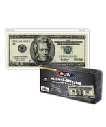 (100) BCW SEMI-RIGID CURRENCY HOLDER - REGULAR BILL - $15.63