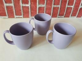 Corelle Stoneware Coffee Lilac Purple Lavender Moonglow set of 3 Thailan... - $28.80