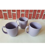 Corelle Stoneware Coffee Lilac Purple Lavender Moonglow set of 3 Thailan... - $28.80