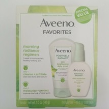 Aveeno Positively Radiant Daily Scrub 5 Oz & Moisturizer 4 Oz Exp 05/21  - $16.99