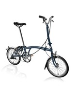 New Brompton M6L 2017 Folding Bike Tempest Blue WORLDWIDE - $1,629.66