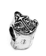 SALE Boat Anchor Ship Charm european bead for bracelet jewelry Sailor St... - $18.72