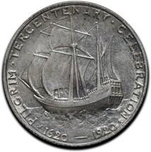 1920 Pilgrim Silver Commemorative Half Dollar Coin Lot# A 582 image 2