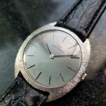 MOVADO Men's 18k White Gold Manual-Wind Dress Watch, c.1960s Swiss Vintage MA144 - $2,842.00