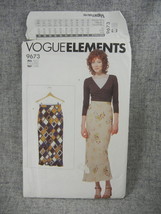 Misses  6-22 Lined Bias Skirt Vogue 9673 Loose Fitting Vogue Elements UC... - $10.00