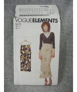 Misses  6-22 Lined Bias Skirt Vogue 9673 Loose Fitting Vogue Elements UC... - $10.00