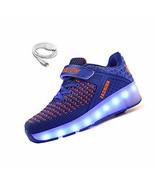 Ehauuo Unisex Wheel Shoes Kids Light up Roller Skate Shoes Girls USB Cha... - $38.66
