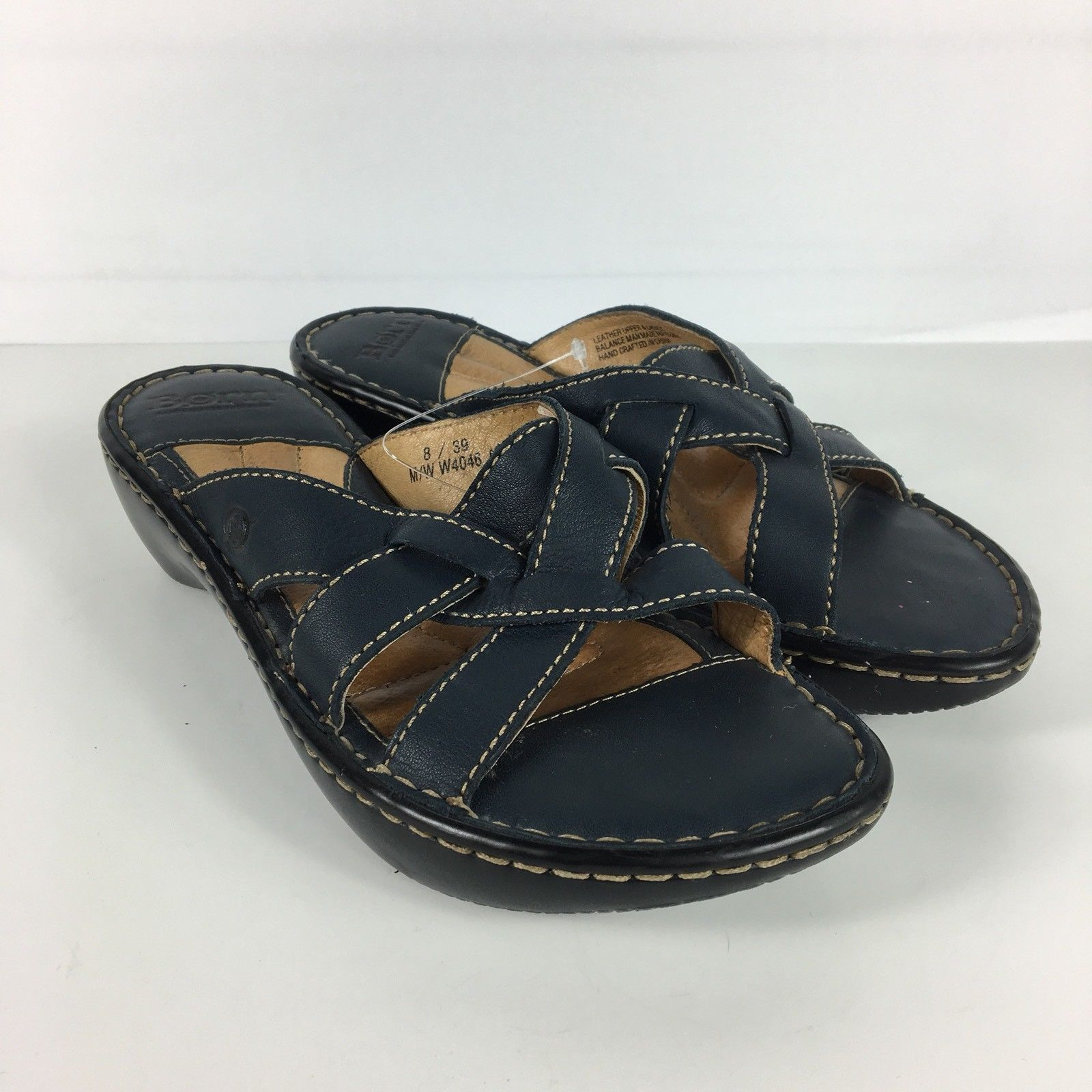 3843db66f72c Born Slide Sandal Women Size 8 Blue Leather and 50 similar items