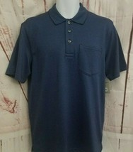George Mens Patterned Jersey Polo Shirt Size S 34-36 Blue Short Sleeve  - $6.93