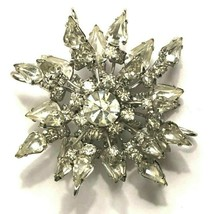 Weiss 3D atomic starburst sparkly rhinestone signed vintage pin - $64.50