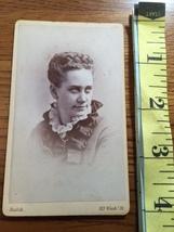 CDV Carte De Viste Young Lady Frilly Collared Dress by Balch Boston 1880's! - $6.00