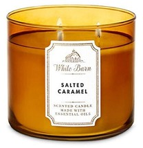 White Barn Bath & Body Works 3 Wick Candle Salted Caramel - $41.07