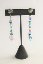 Vintage Jewelry Super High End Deco Era Lead Crystal Rhinestone Dangle Earrings - $65.00
