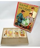 Vintage 1900's Milton Bradley GAME OF NATIONS #4376 Card Game - $30.00
