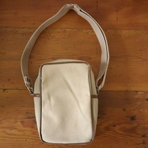 Vintage 70s Polaroid Khaki Cotton Canvas Padded Shoulder Instant Camera Bag - $19.99