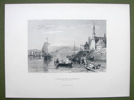 CANADA River St. Lawrence near Montreal - 1880s Antique Print Engraving - $13.77