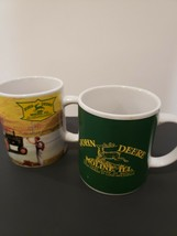 2 John Deere Coffee Mugs Cups Collectible Moline Ill Licensed Product Pa... - $29.03