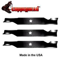"""3 Pack Hi Lift Blades fit Husqvarna 532187256 54"""" Deck 187254 187256 MZ5424S - $30.35"""