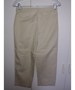 EDDIE BAUER LADIES LIGHT WEIGHT 100% COTTON CROPPED PANTS-4-NWOT-BELT LO... - $13.99