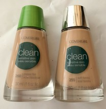 Lot of 2: NEW CoverGirl Clean Sensitive Skin Liquid Makeup in 255 Honey ... - $19.79