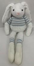 Manhattan Toy Bunny Rabbit Plush long arms legs blue sweater stripes white - $4.94