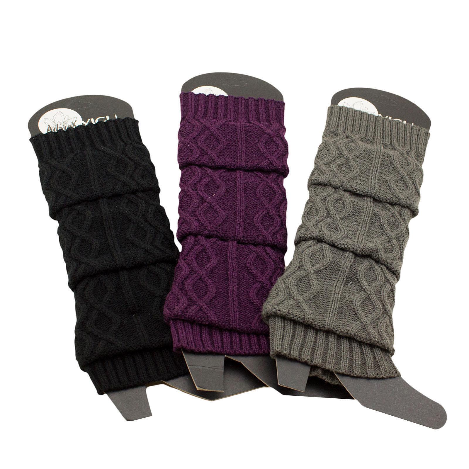 Women's Cable Knit Braided Leg Warmers Winter Boot Warmer Soft Knee Socks