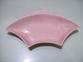 Vintage California Pottery USA Lazy Susan Pink Speckled Ceramic Dish 219 - $23.76