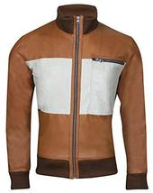 Hangover Mr Chow Ken Jeong Bomber Brown Leather Jacket image 1
