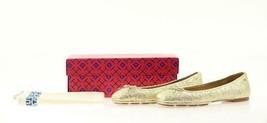 Tory Burch Laila 2 Metallic Gold Leather Driver Ballet Flats Choose Sz7 ... - $119.99