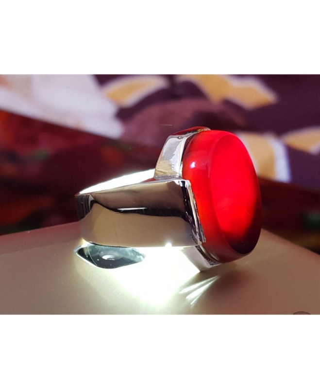 Beautiful Black Red Yemeni Aqeeq Ring Yamni and 50 similar items