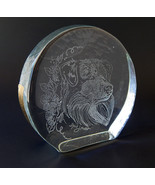 Nova Scotia Duck Tolling Retriever Large Clear Glass Paperweight Ingrid ... - $61.00