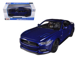 2015 Ford Mustang GT 5.0 Blue 1/24 Diecast Car Model by Maisto - $23.99
