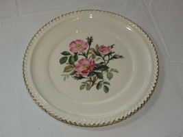 """The Harker Pottery Co. Made in USA 22 KT Gold Trim 10 1/4"""" dinner plate ... - $16.03"""