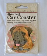 Bull Mastiff Absorbent Car Coaster Stoneware E&S Pets Dog Auto NEW - $10.88