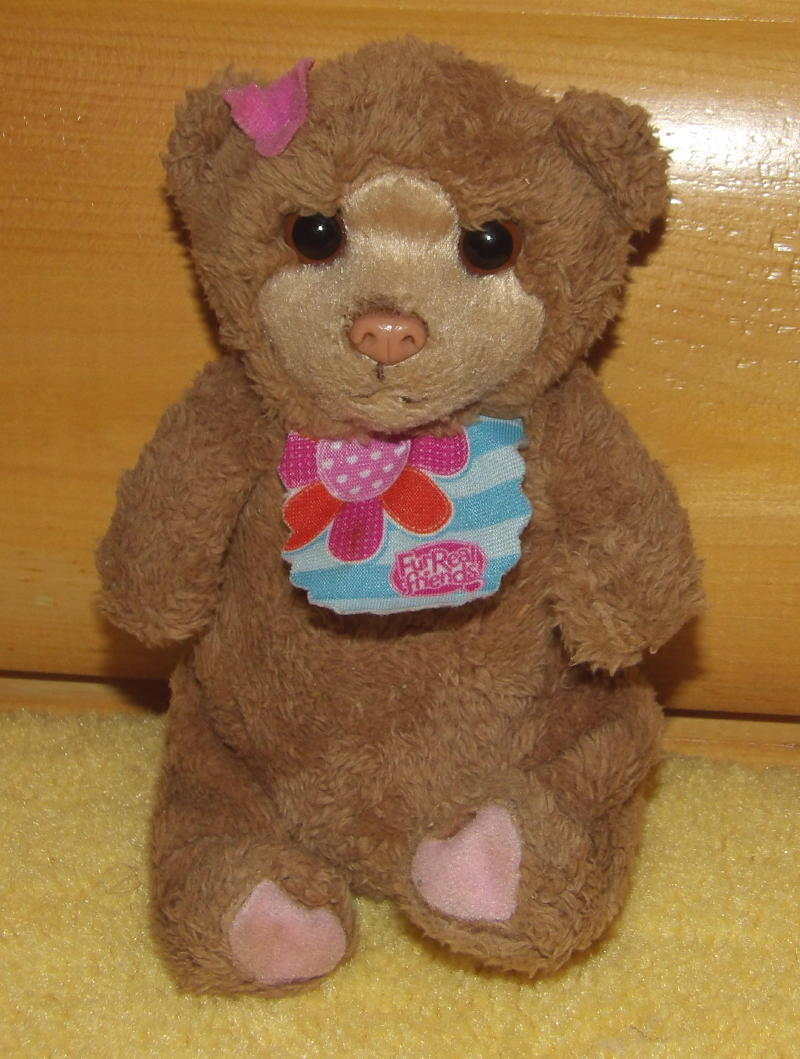 "Primary image for FurReal Friends Brown Little Feed Me Baby Bear with Flower Bib 6"" Sound-Movement"