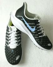Nike Womens Air Zoom Vomero 14 Running Shoes Black Light Blue Size 9.5 NEW - $100.00
