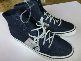 Sperry Top Sider High Top Denim Womens 10M Shoes Lace up Slip on Sneakers New  - $37.61