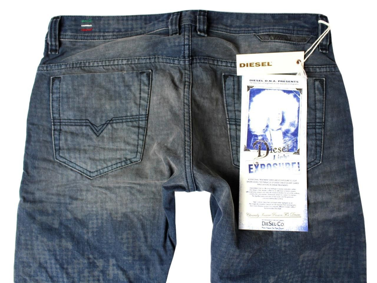 NEW DIESEL MEN'S PREMIUM DENIM REGULAR SLIM STRAIGHT DESIGNER JEANS SAFADO 0811M