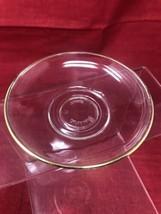 Pasabahce Turkey Gold Trim Glass Tea Saucer  - $8.86