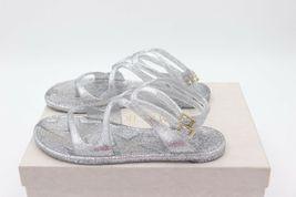 NIB Jimmy Choo Lance Silver Metallic Glitter Rubber Jelly Sandals 7 37 New image 4