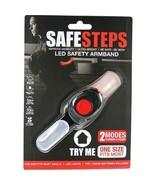 Safe Steps LED Light Jogging Walking Biking Arm Band Night Dark Safety RED - £8.06 GBP